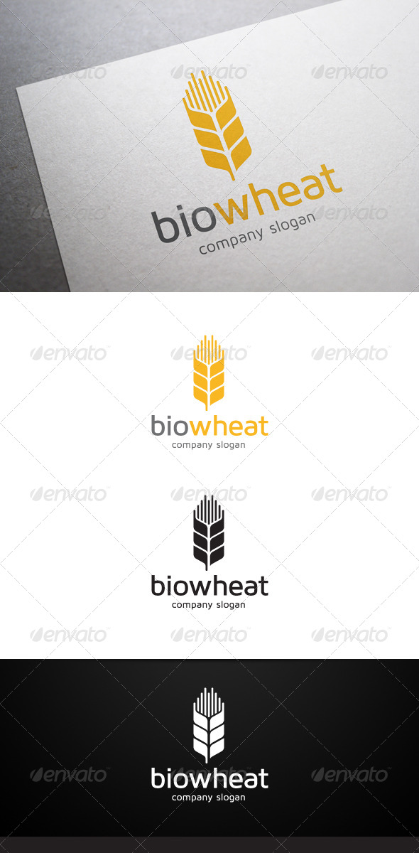 GraphicRiver Bio Wheat Logo 5852350