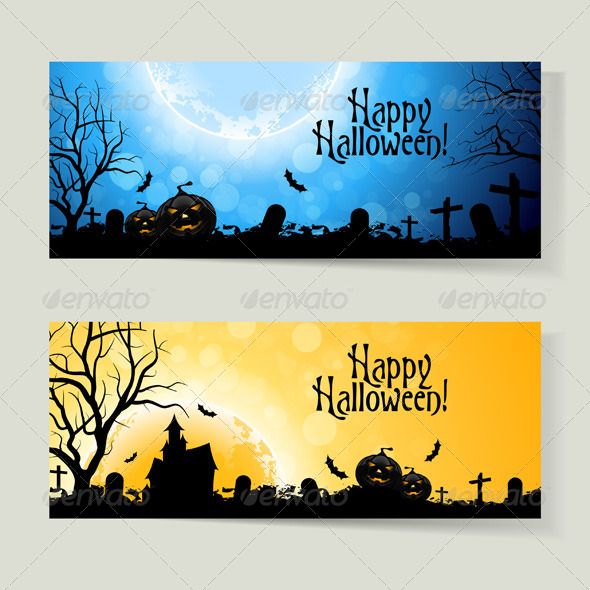 Set of Halloween Banners - Halloween Seasons/Holidays