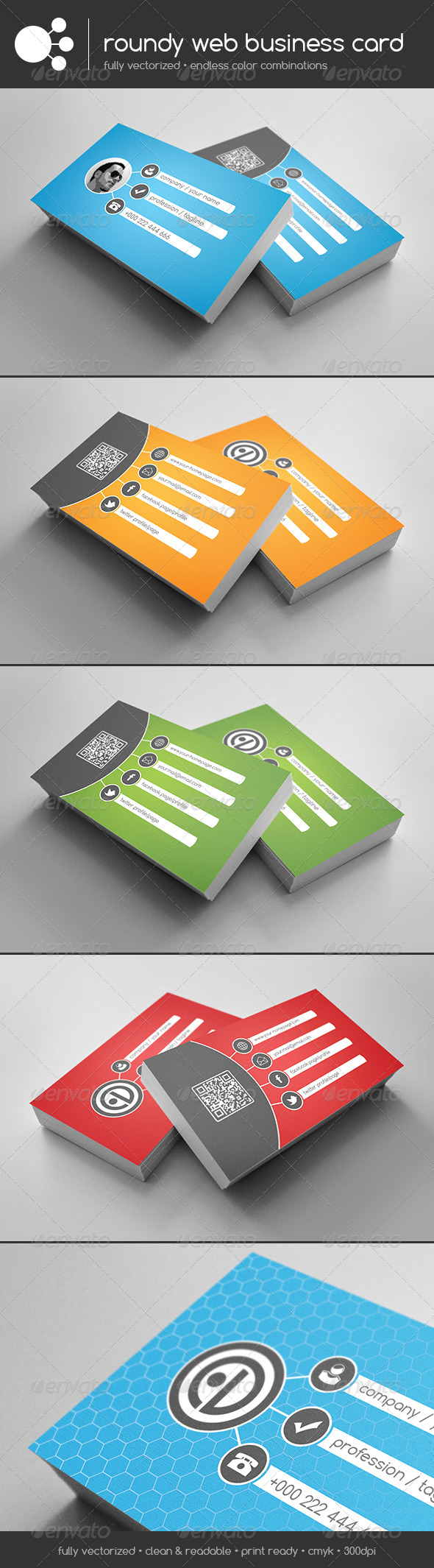 GraphicRiver Roundy Web Business Card 5852968