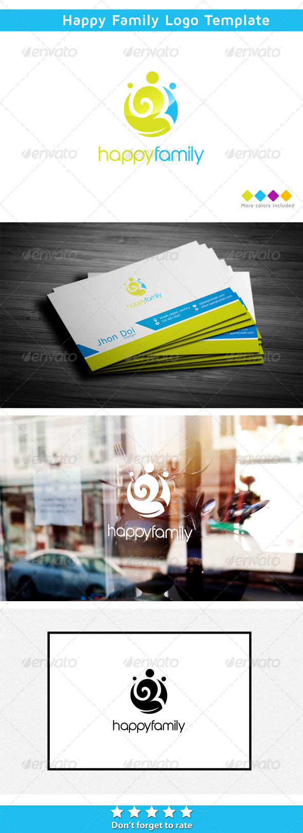 graphicriver healthy family 5852985 logo template humans family loved