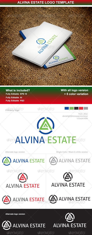 GraphicRiver Alvina Estate Logo Template 5853151