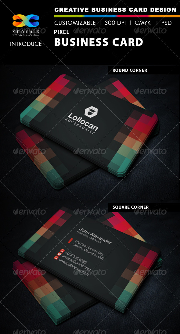 GraphicRiver Pixel Business Card 5853362