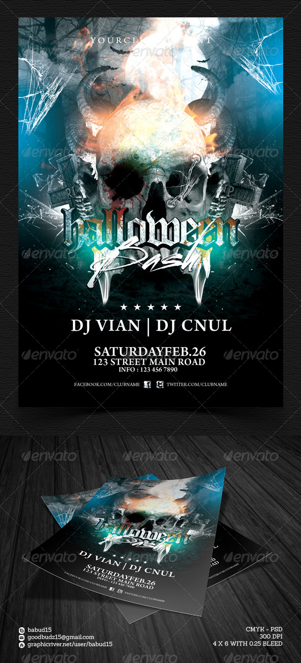 GraphicRiver Halloween Bash Flyer Template 5853364