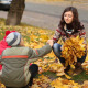 The Girl Collects Leaves - VideoHive Item for Sale