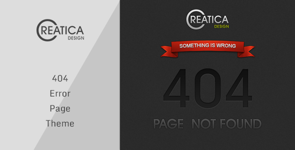 Creatica - 404 Error Theme - 404 Pages Specialty Pages