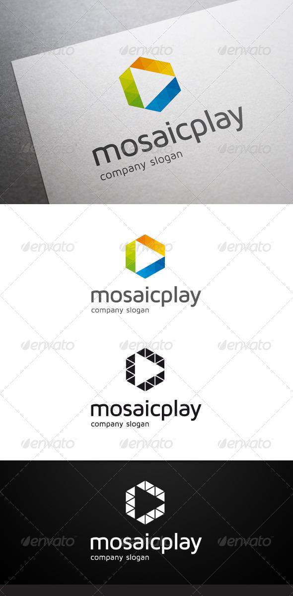 GraphicRiver Mosaic Play Logo 5853576