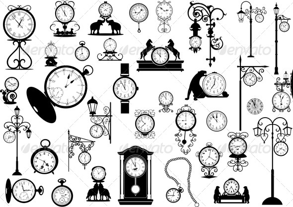GraphicRiver Clocks and Watches 5853699