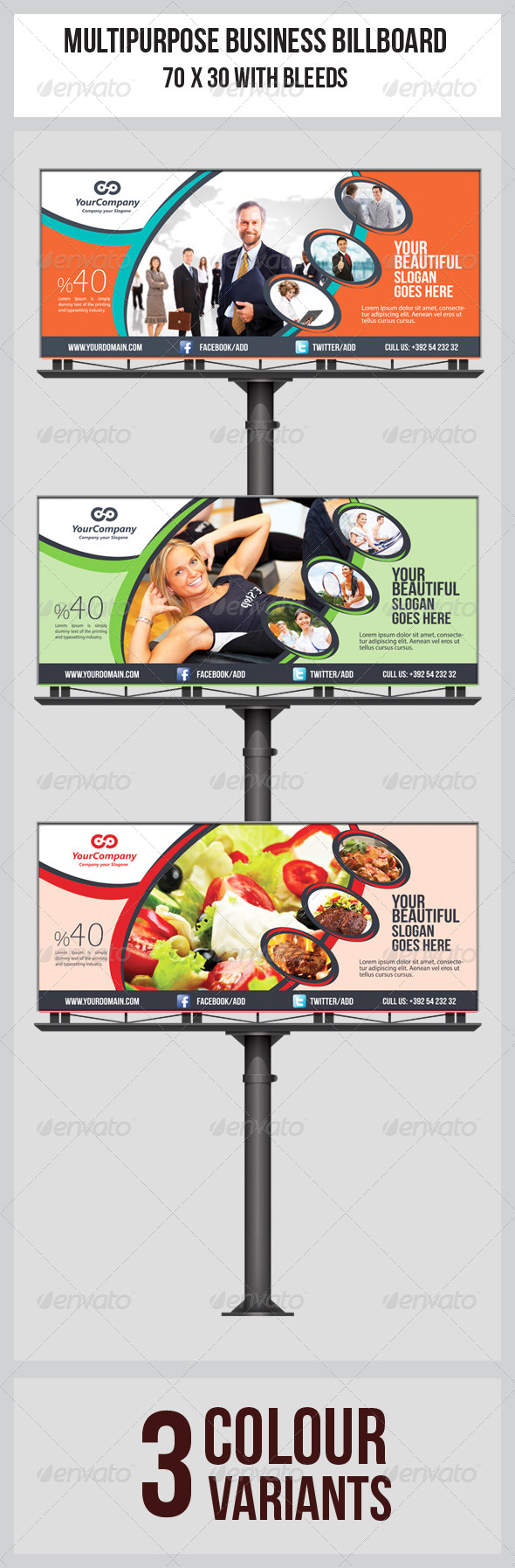 GraphicRiver Multipurpose Business Billboard Template 5853846