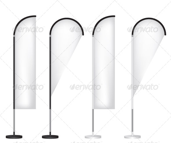 GraphicRiver Blank Banner Flag Stand 5854142