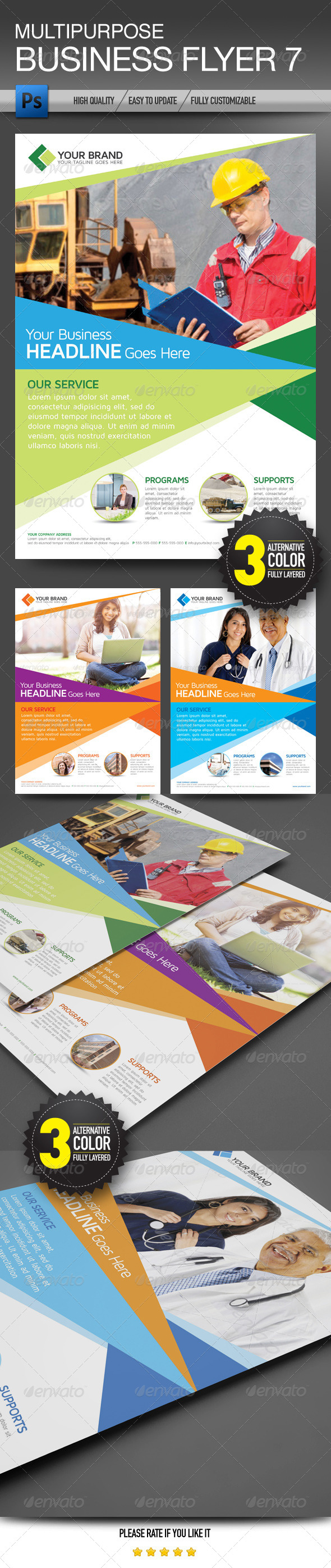 GraphicRiver Multipurpose Business Flyer 7 5854149