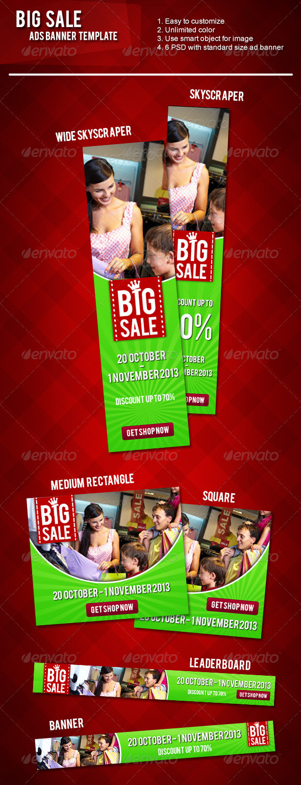 GraphicRiver Big Sale Ads Banner 5854381