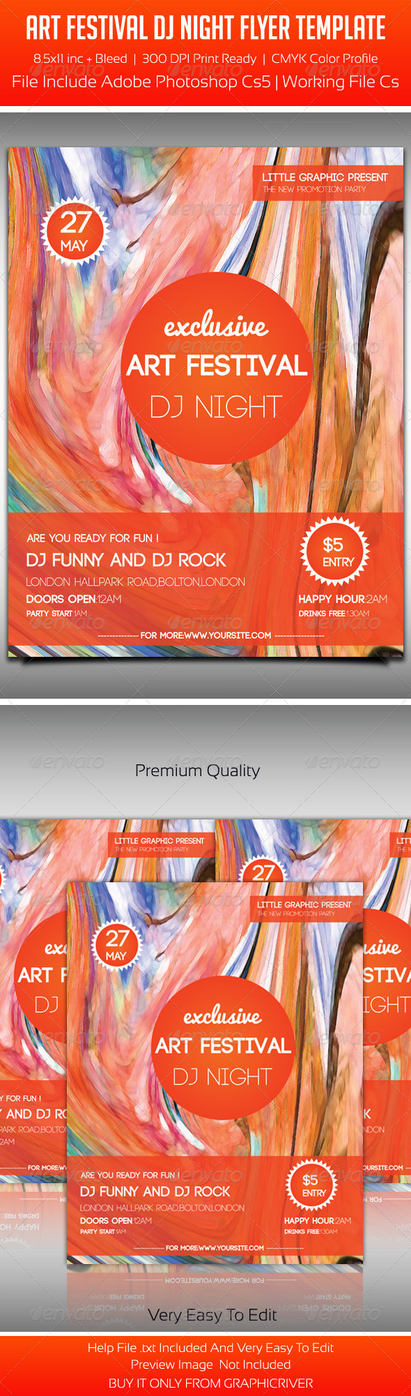 Art Festival Party Flyer Template - Events Flyers