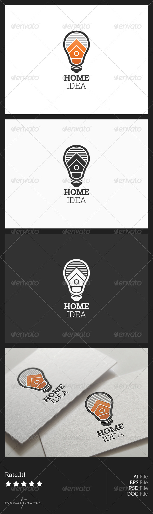 Home Idea Logo - Buildings Logo Templates