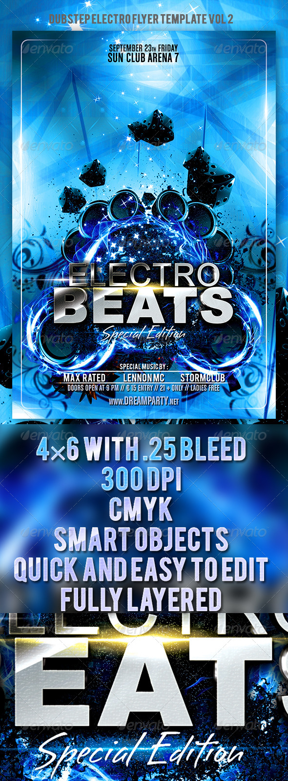 GraphicRiver Dubstep Electro Flyer Template Vol.2 5854833