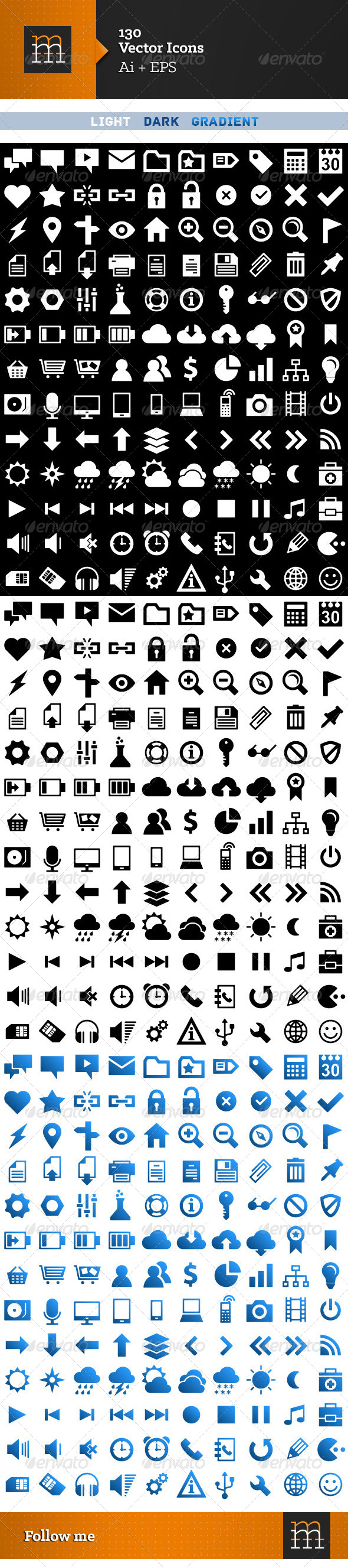 130 Vector Icons - Software Icons