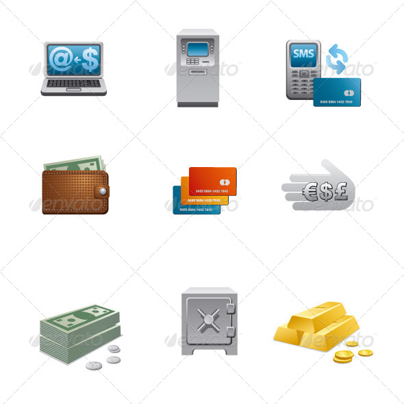 GraphicRiver Banking Icon Set 5855049