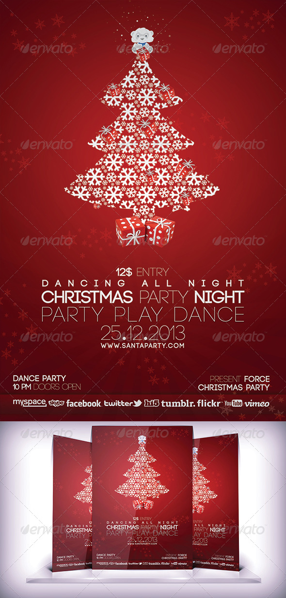 GraphicRiver Christmas Party Flyer 5855121
