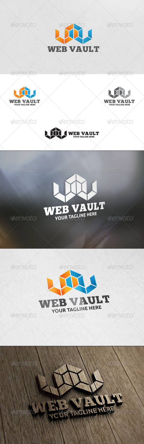 GraphicRiver Web Vault Logo Template 5855137