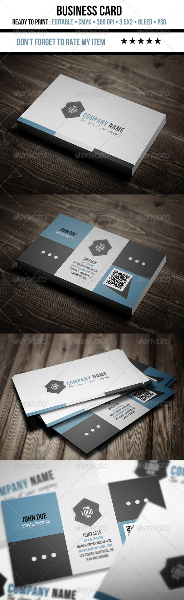 GraphicRiver Artistic Flat Business Card 5855493