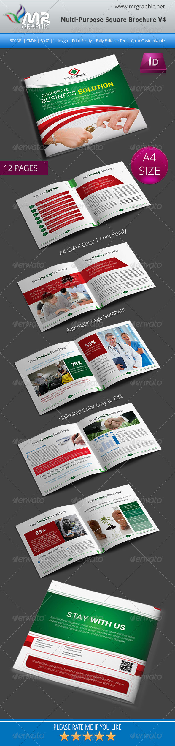 GraphicRiver Multipurpose Square Brochure Template Vol-04 5855662
