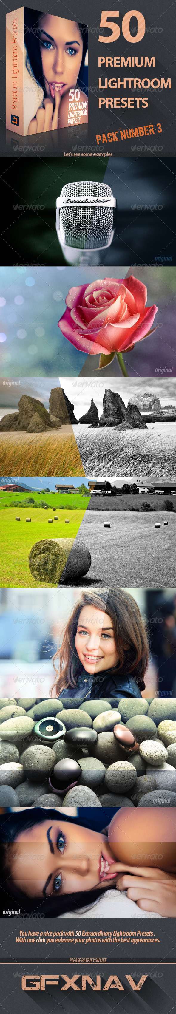 GraphicRiver 50 Premium Lightroom Presets Pack No4 5855669