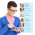 Young guy using social network on tablet computer - PhotoDune Item for Sale