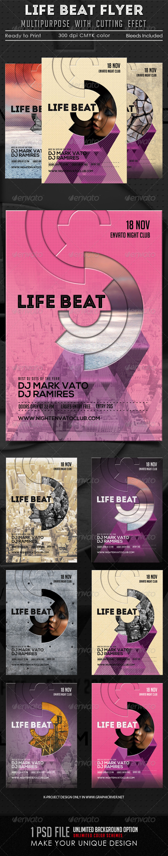 GraphicRiver Life Beat Multipurpose Flyer 5814631