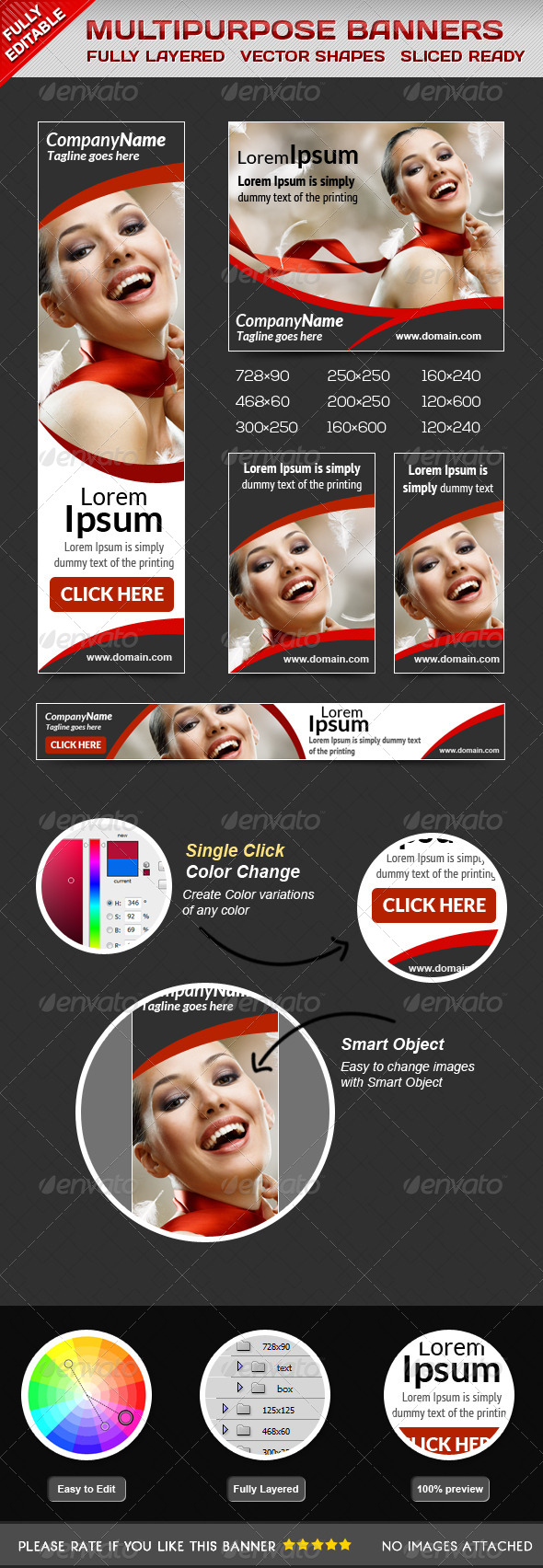 GraphicRiver Fashion Glamorous Banners 5856636