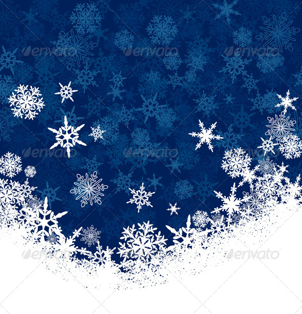 Snowflake Christmas Card Background