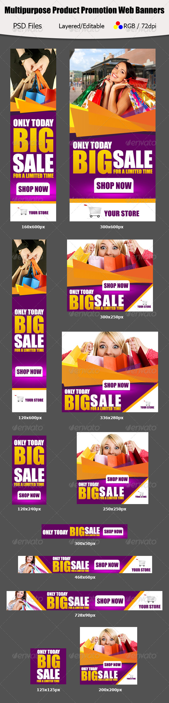 GraphicRiver Multipurpose Product Promotion Web Banners 5857373