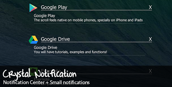 CodeCanyon Crystal Notifications 5857410