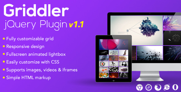 Griddler jQuery Plugin - CodeCanyon Item for Sale