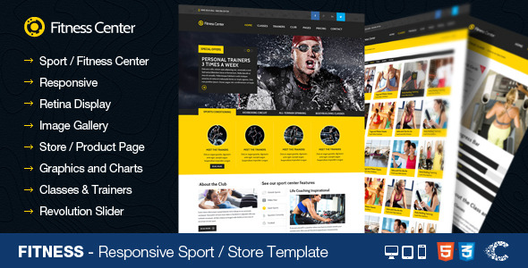 Fitness - Sport Center Gym Club Responsive