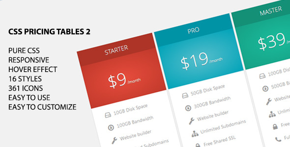 CodeCanyon CSS Pricing Tables 2 5857474