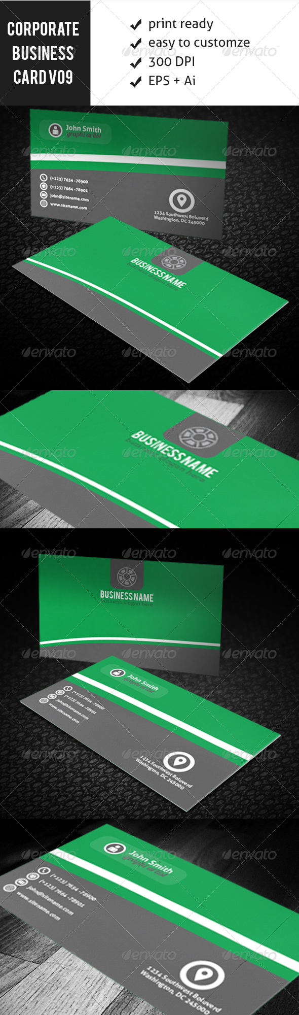 GraphicRiver Corporate Business Card Vo-9 5857658