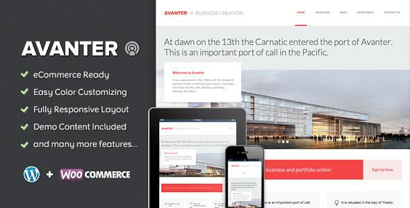 Avanter –  Corporate & Architecture Theme (Business) images