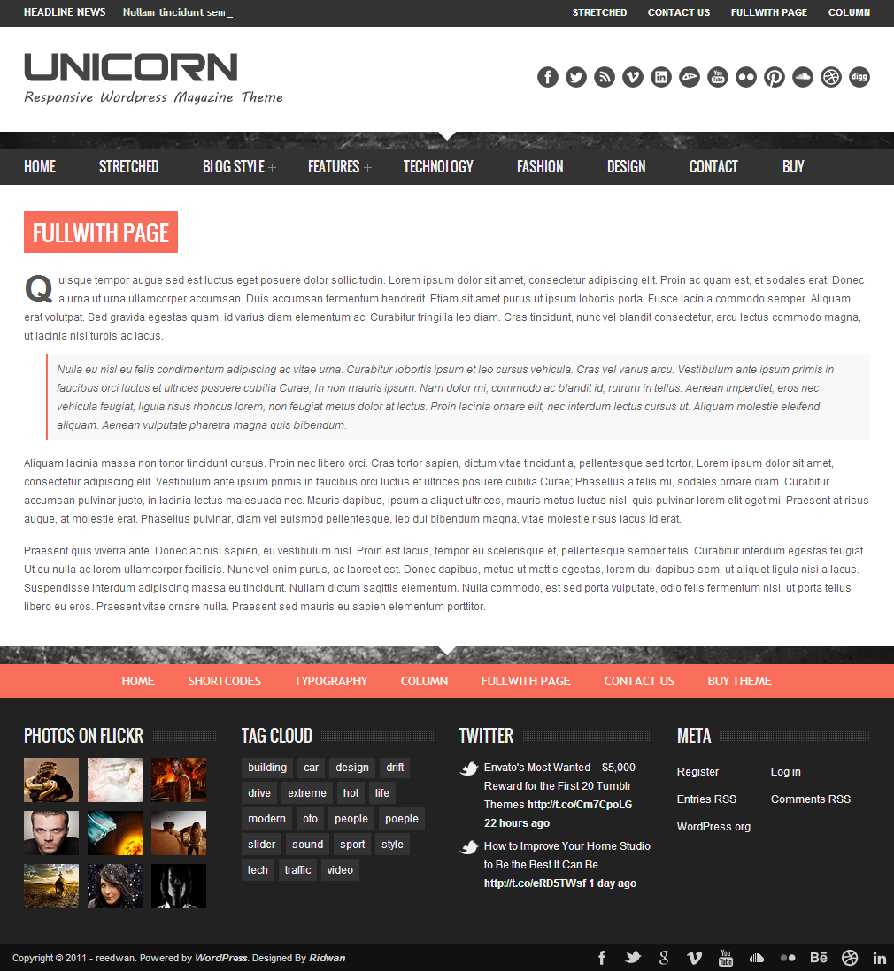 Unicorn - Clean and Responsive Magazine Theme