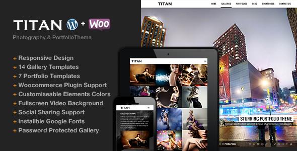 Titan v1.1 | Themeforest Responsive Portfolio Photography Theme