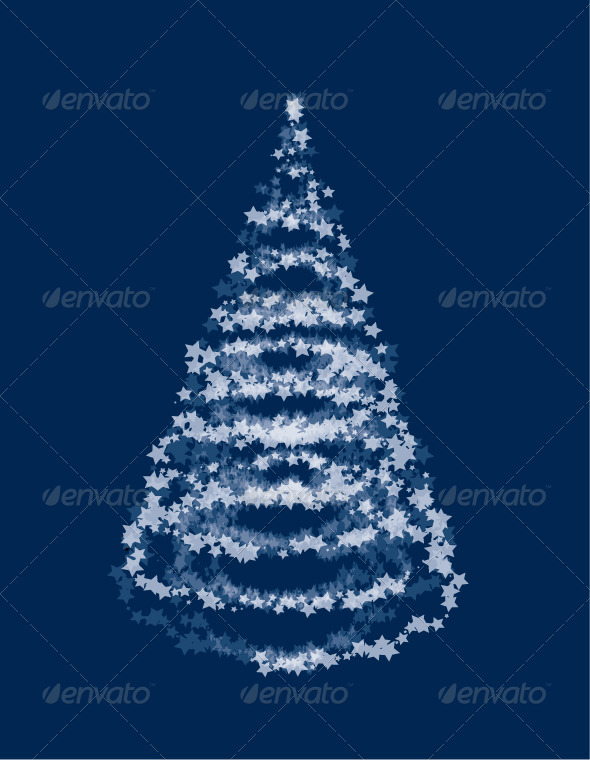 Vector Star Christmas Tree - Christmas Seasons/Holidays