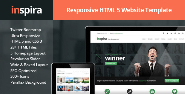 ThemeForest Inspira Responsive HTML 5 Website Template 5836612