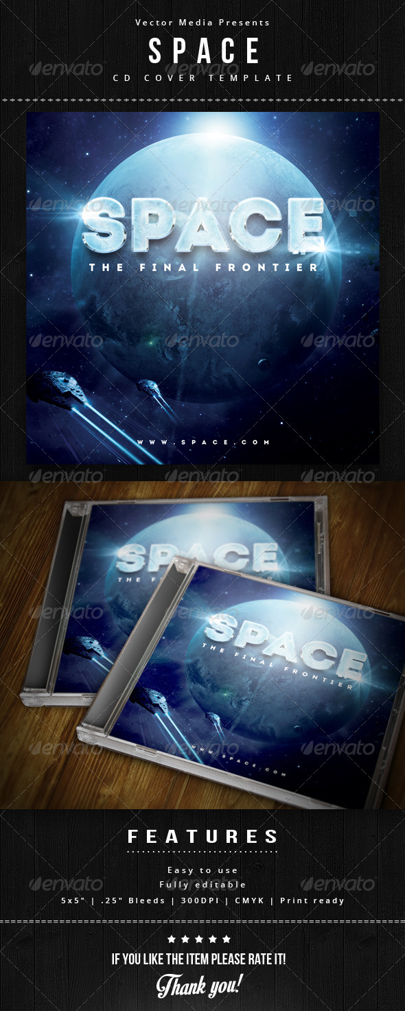 GraphicRiver Space Cd Cover 5858799