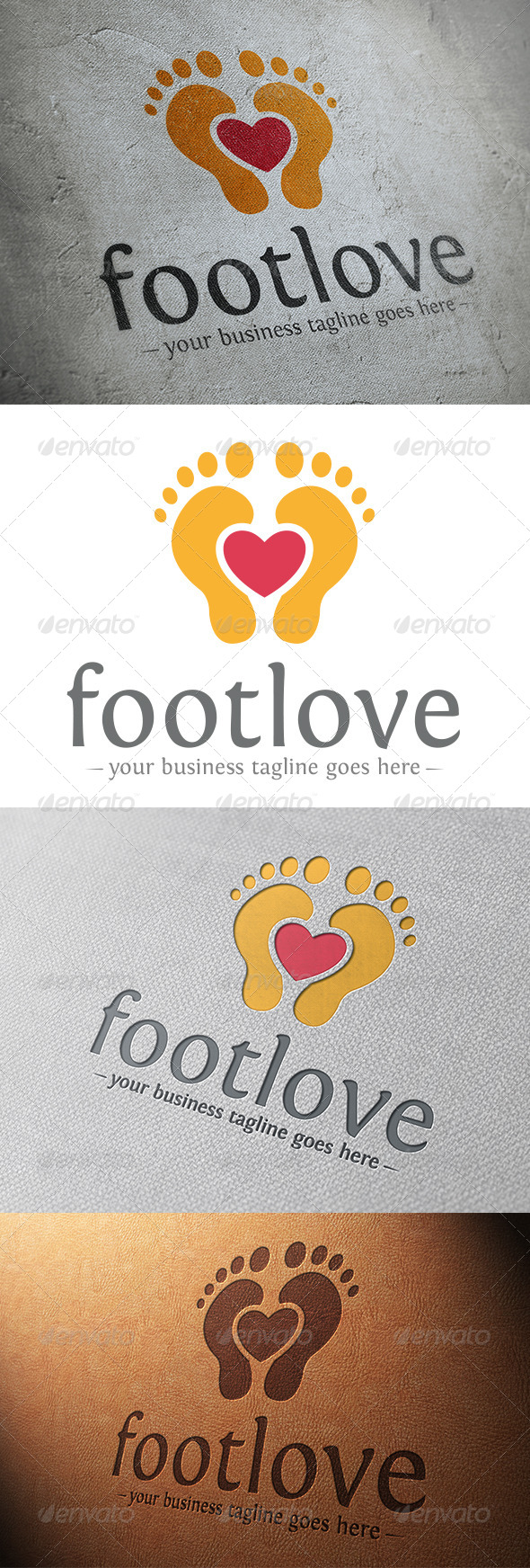 Foot Love Logo Template