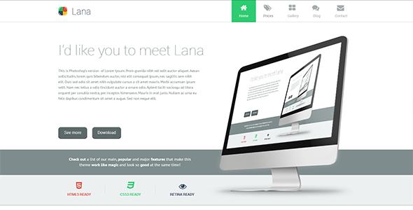 Lana – One Page WordPress Theme (Portfolio) images