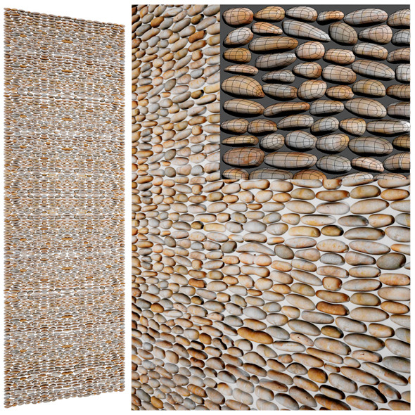 3DOcean Decorative Stone Pebbles 5859970