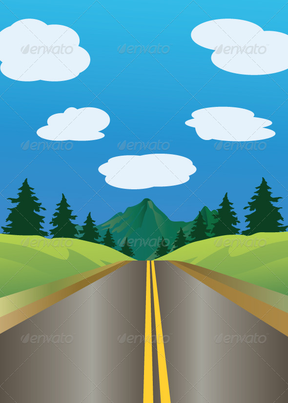 GraphicRiver Forest Road 5859975