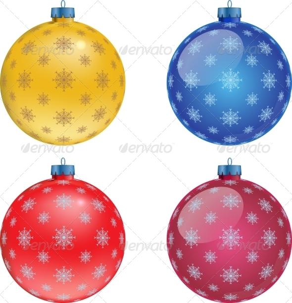 GraphicRiver Set of Colorful Christmas Balls Illustration 5859996