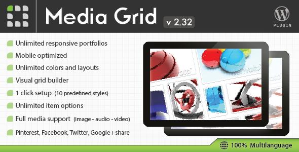 Media Grid - WordPress Responsive Portfolio Gallery