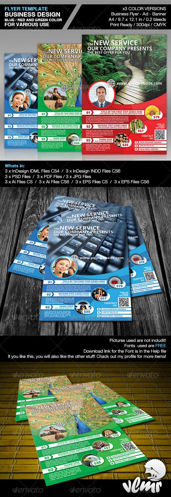 GraphicRiver Multipurpose Corporate Flyer Ad Template 4912768