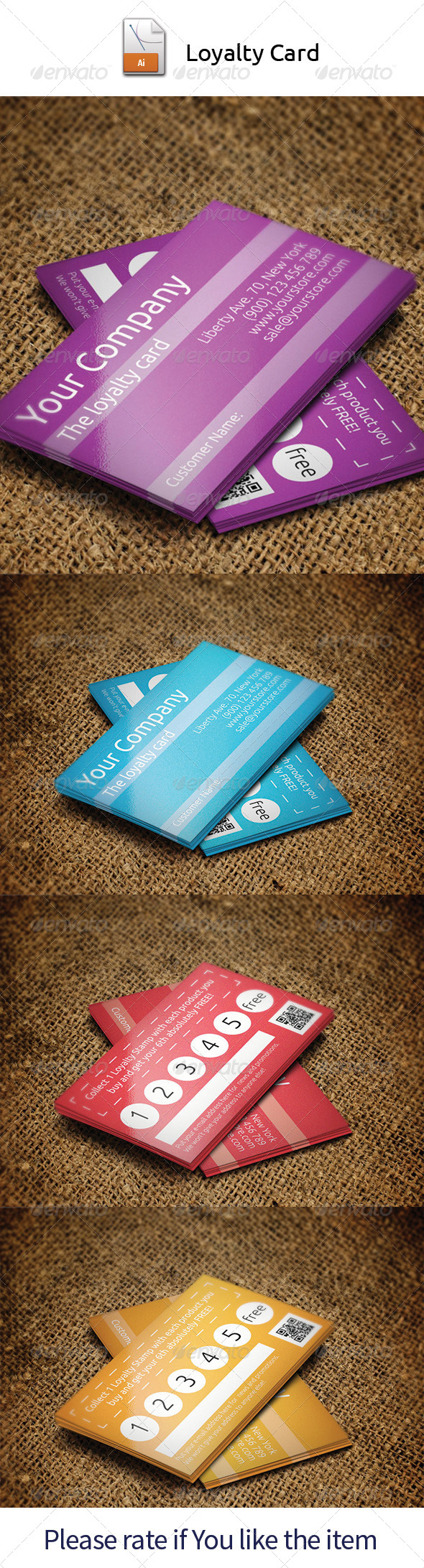 GraphicRiver Loyalty Card 4736656