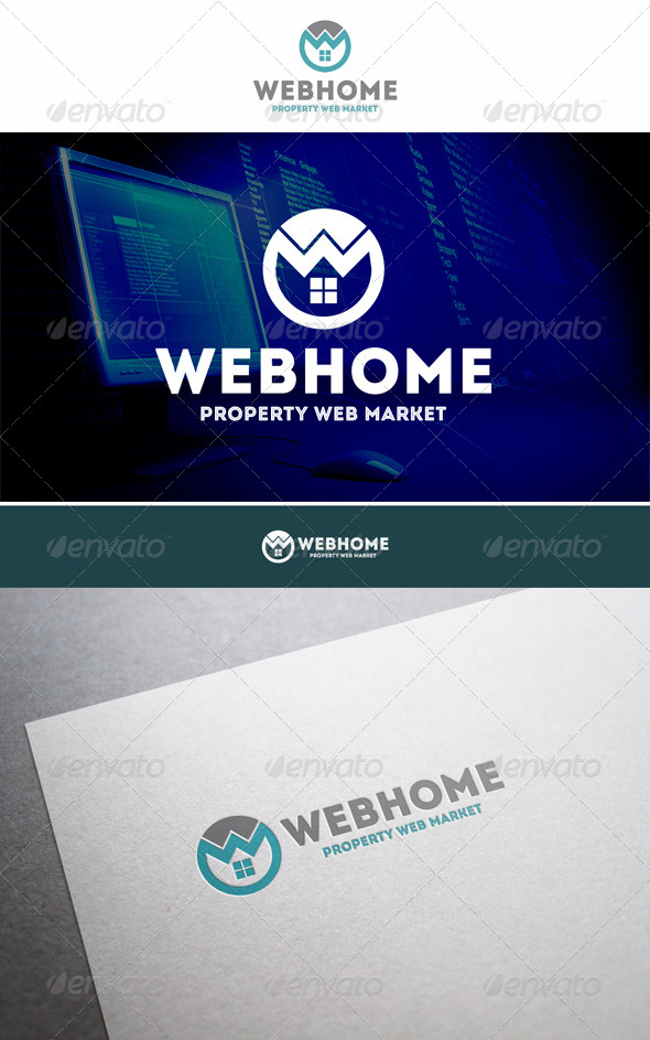 GraphicRiver Web Home Property Logo 5860622
